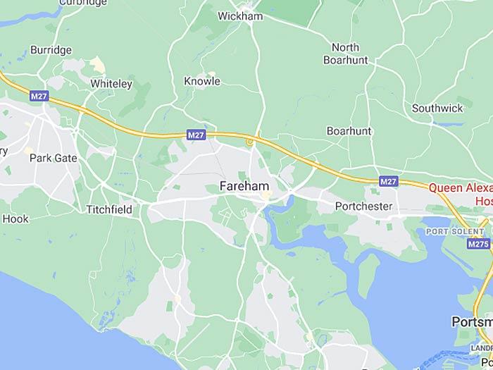 map of fareham