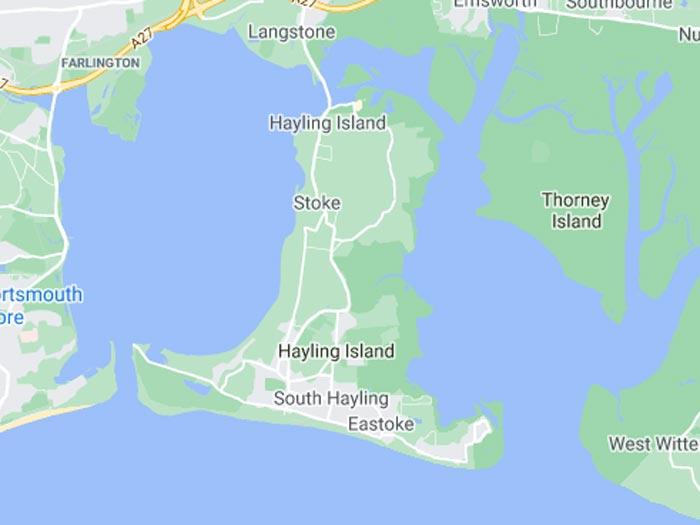 map of hayling-island