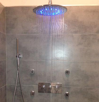 New showers installed